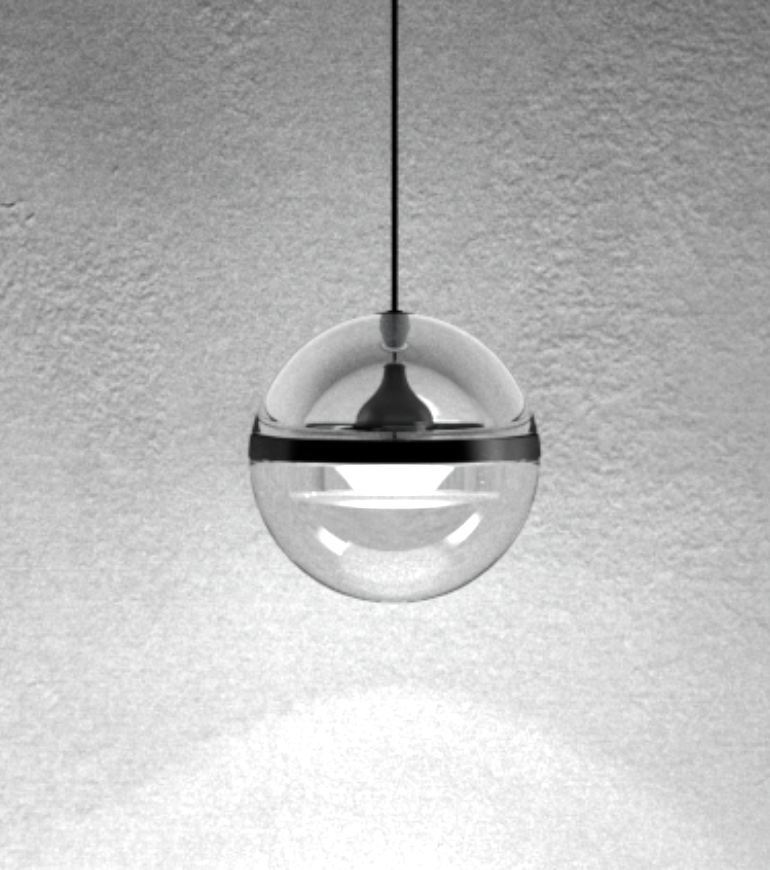 Suspension lamp Limbus for direct light designed