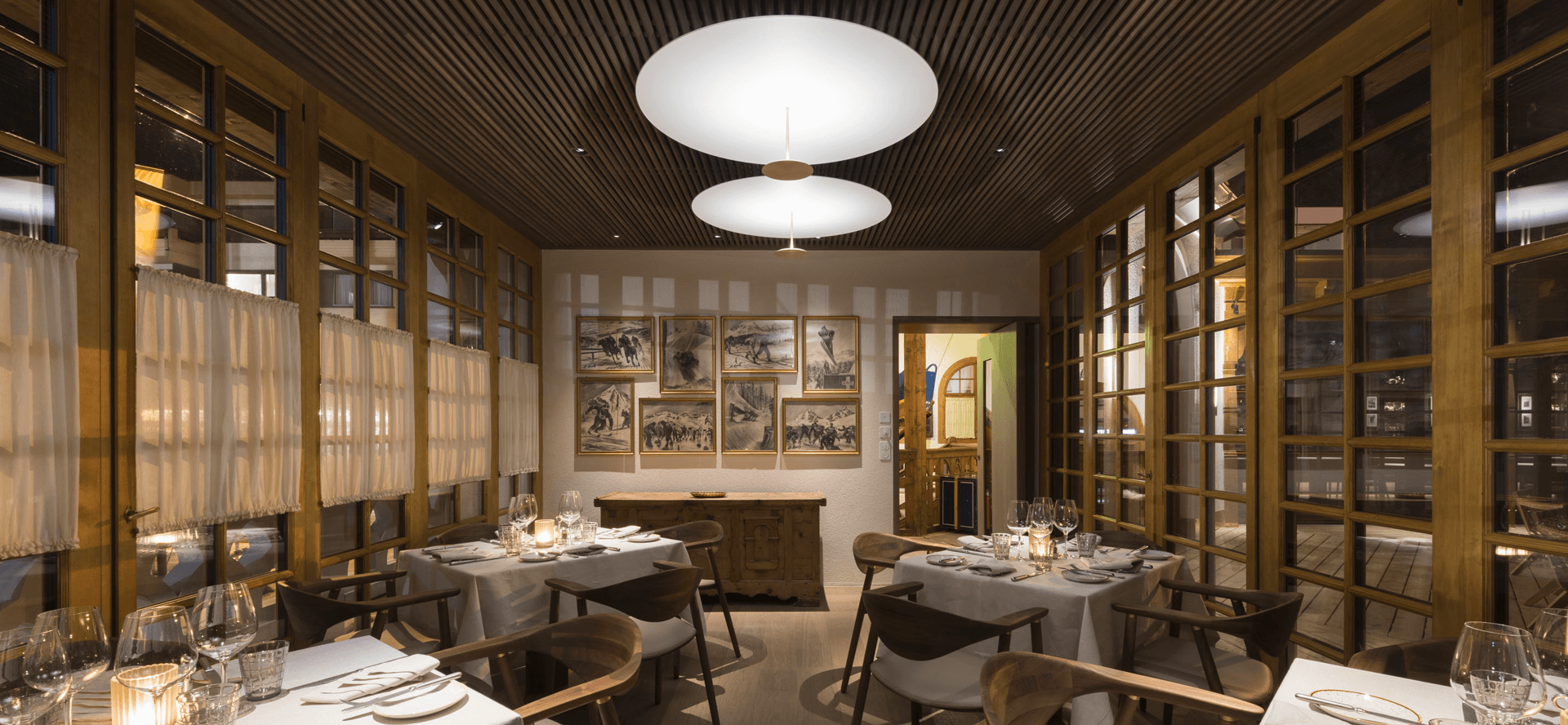 Kulm Eispavillon Restaurant St. Moritz, Switzerland